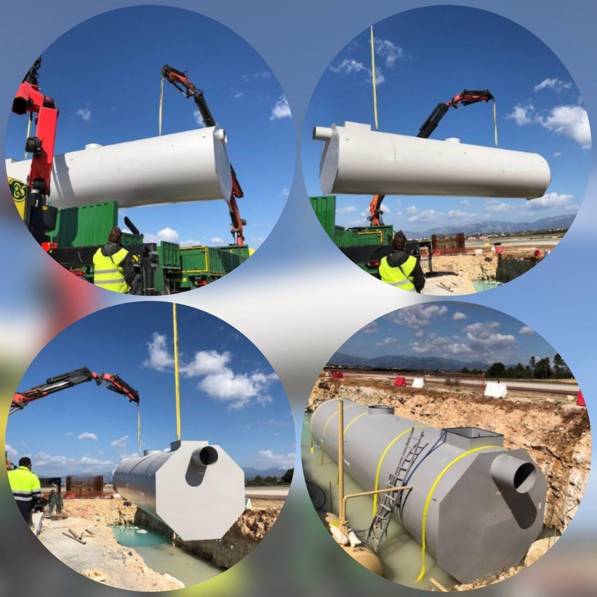 Aqua Ambient Ibérica suministra Separadores de Hidrocarburos para la ampliación del Aeropuerto Son Sant Joan (Palma de Mallorca)