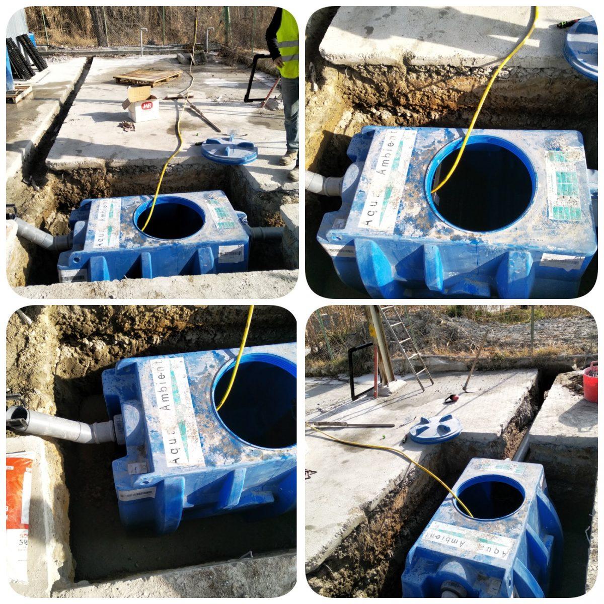 Instalación de Separador de  Hidrocarburos Aqua Ambient para la zona de auto repostaje de una fábrica de hormigón.