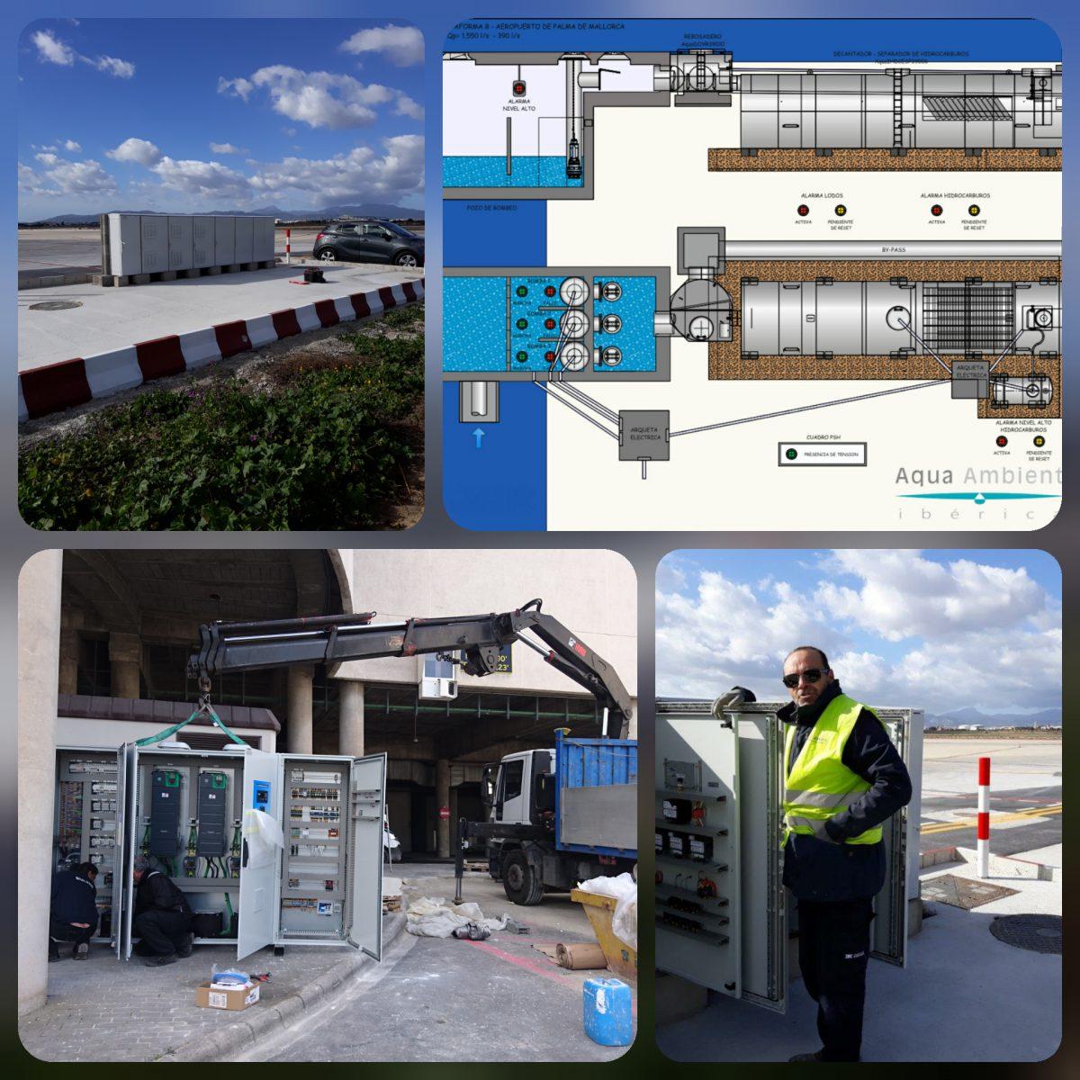 Instalación de los cuadros eléctricos para el control de PSH en el Sector Aeroportuario