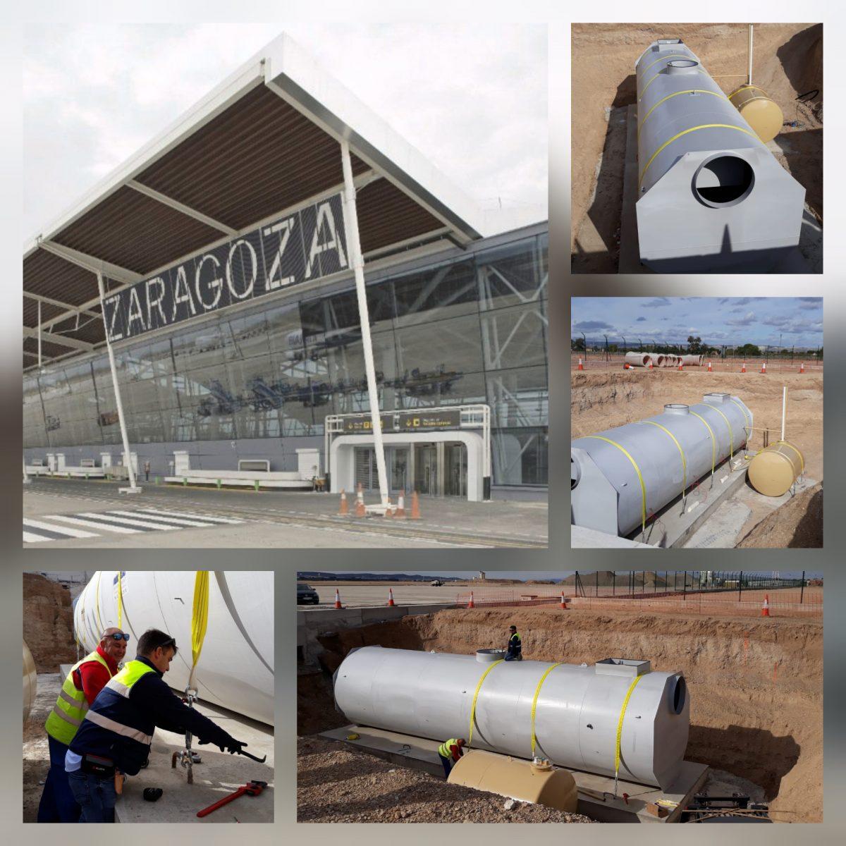 Suministramos nueva línea Separación de Hidrocarburos para la ampliación del Aeropuerto de Zaragoza.