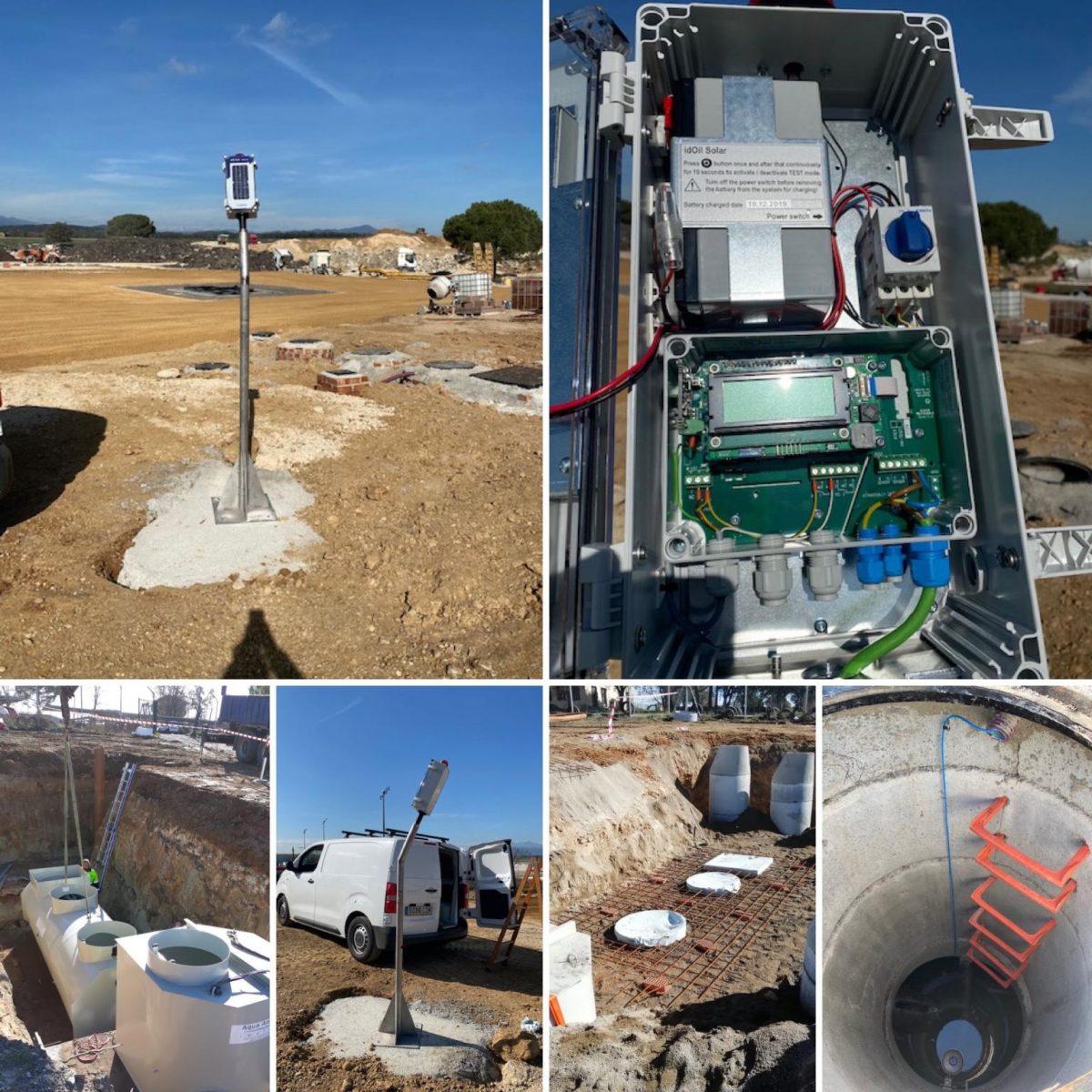 Monitorización del nivel de Lodos e Hidrocarburos con panel solar.