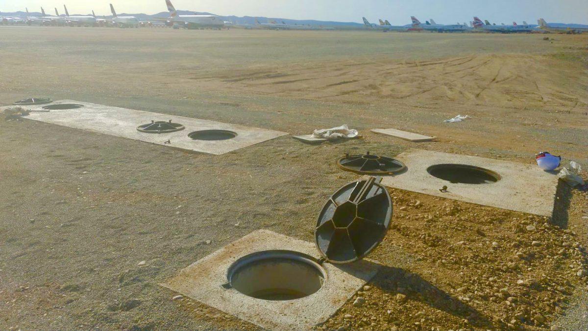 Instalación del Sistema de Alarma en el Aeropuerto de Teruel